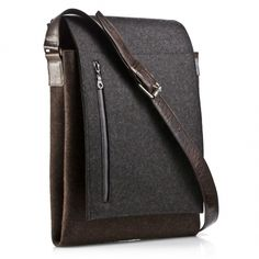 Graf & Lantz  Messenger Bag chocolate w/ charcaol flap  $349.00