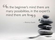 The Zen of Improv: Improviser's Mind Beginner's Mind. Great article on humility as a basic requirement of improv. Buddhist Philosophy, Philosophy Quotes, Inner Peace Quotes, Zen Master, Buddhist Quotes, Mindfulness Quotes, Friendship Quotes, Decir No, Proverbs