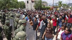 A self-defense militia was attacked by a rival faction in southern Mexico on June 6 leaving at least 10 people dead, witnesses said, amid tensions in the region on the eve of elections.