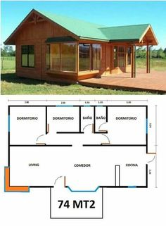 You don't necessarily have to build your house in the style that's prominent in your region. Therefore, in case you have got a new house or an apartme. Barn House Plans, Dream House Plans, Small House Plans, House Floor Plans, Small Wooden House, Town Country Haus, Tiny House Cabin, Building A Shed, Small House Design