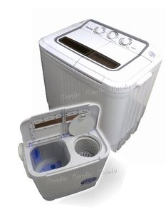 This might be an option for any tiny home: Panda Small Compact Portable Washing Machine(6-7lbs Capacity) with Spin Dryer $169.99