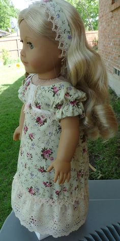 18 Doll Clothes Historical Regency Style Dress by Designed4Dolls, $29.95