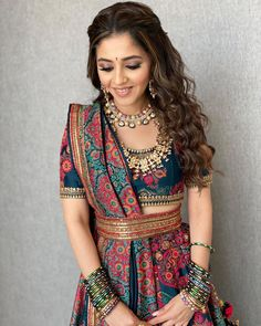 Traditional outfits and those vibes . You can find Wedding nails and more on our website.Traditional outfits and those vibes . Sharara Designs, Lehenga Designs, Indian Gowns Dresses, Indian Fashion Dresses, Indian Designer Outfits, Indian Designers, Fashion Outfits, India Fashion, Japan Fashion