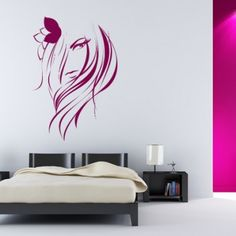 Womans Face Flower People Wall Stickers Wall Art Decal - People & Faces - People & Places