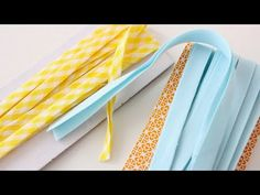 SEW DIY BIAS TAPE, single fold, double fold, continuous bias tape - YouTube