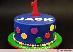1st Birthday Polka Dot Cake by Pink Cake Box