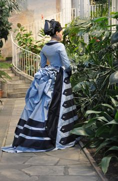 Before the Automobile: 1874 day dress after a dress in V