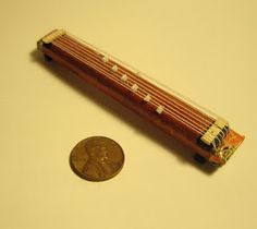 My 1/20 scale version of a koto for my Japanese dollhouse