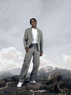 A$ap Rocky, Highsnobiety editorial, Asap rocky for highsnobiety, robert wunsch, chantal drywa, asap rocky style, asap rocky wearing suit, acne studios, adidas, raf simons,