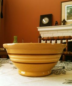 Yellowware Mixing Bowl 101/4 inch by MaisonRustique on Etsy, $85.00