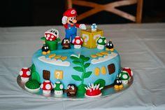 Mario bros birthday cake for my son