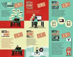 6 mitos sobre Internet #infografia