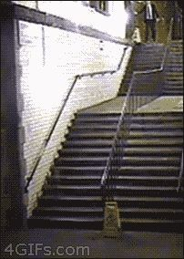 The guy who invented a new way of using the stairs: | The 19 Drunkest People Of AllTime