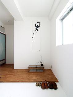 玄関の一例。框無しの雰囲気