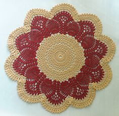Pink Pineapple Doily  (P)