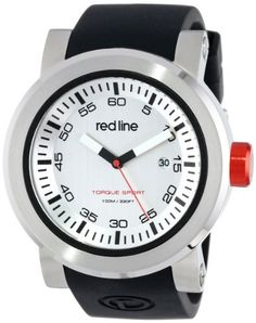 red line Men's RL-50049-02S Torque Sport Silver Dial Black Silicone Band Watch