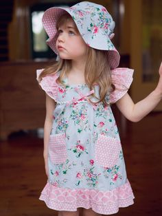 Holly Painted Blue Floral Dress & other Oobi products for sale online with Fast, Insured, Australia-wide shipping. Girls Party Dress, Baby Dress, Girls Dresses, Boho Flower Girl, Easy Wear, Baby Girl Fashion, Our Girl, Tween, Dress Collection