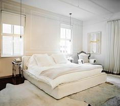 I love this so much I almost cried. Light & Bright: A Gallery of All White Bedrooms