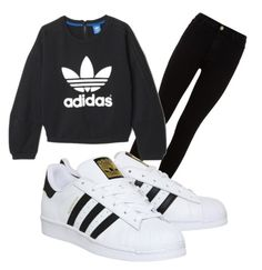 """""""аdidas"""" by stoteva ❤ liked on Polyvore featuring 7 For All Mankind, adidas, women's clothing, women, female, woman, misses and juniors"""