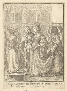 Empress, from the Dance of Death  Wenceslaus Hollar (Wenzel Vaclav) (Bohemian, Prague 1607–1677 London)  Artist: After Hans Holbein the Younger (German, Augsburg 1497/98–1543 London)  Date: 1651  Medium: Etching; second state of four