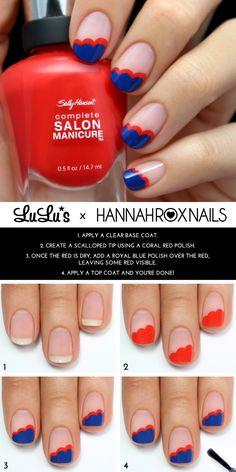 Mani Monday: Blue Scalloped Nail Tutorial - Lulus.com Fashion Blog