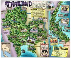 Children's map of Thailand  by William Warren