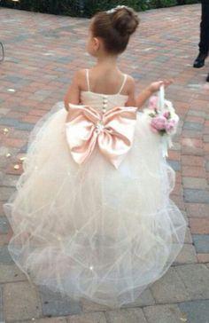 #Spaghetti straps Flower Girl Dresses #Ball gown Flower Dresses #Birthday Flower Girl Dresses