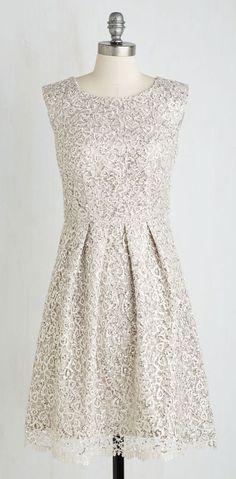 Fun One Like You Dress in Silver