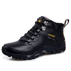 half off 60097 73756 Winter Hiking Boots Man Winter Snow Boots Waterproof Mountain Climbing  Shoes Outdoor Sports Sneakers for Camping