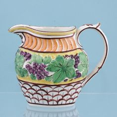 Antique English pottery jug.