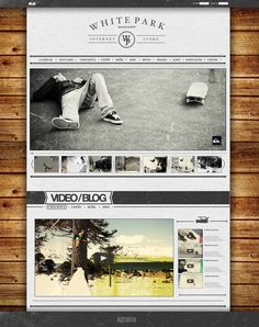 WEBSITE FOR WHITE PARK.RU by We Are Design, via Behance