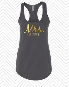 Mrs Shirt. Bride Tank Top. Bride Shirt. by HelloFabulousApparel