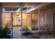 **eichler home - porch with light and privacy!