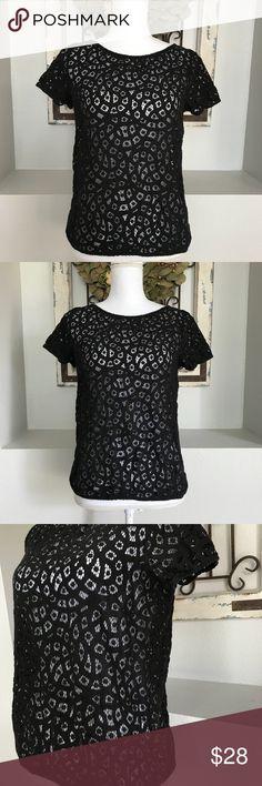 LOFT Black Lace Crochet Top LOFT Black Lace Crochet Top - Small. Excellent condition! LOFT Tops Blouses