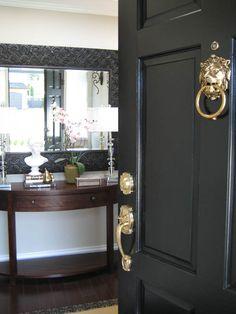 Great black front doors