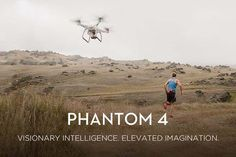 DJI Phantom 4 Flying Camera Drone Avoids Obstacles and Tracks Moving Subjects