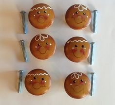 Gingerbread Decorative Knobs..Drawer by CraftsByJoyice on Etsy,