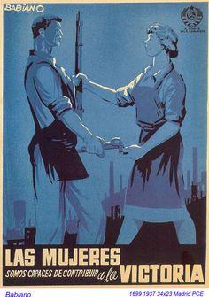 """Desiderio Babiano Lozano. """"Las mujeres somo capaces de contribuir a la victoria."""""""