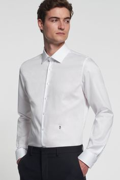 Plain White Shirt, White Shirts, Chef Jackets, Casual Outfits, Hipster, Slim, Mens Fashion, Shirt Dress, Lifestyle