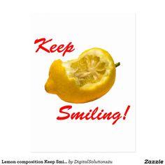 Lemon composition Keep Smiling! Postcard