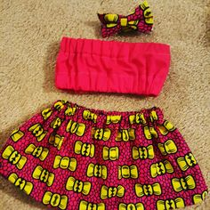 African skirt, baby skirt, African clothing, African tube top, African summer clothes, Girl summer, Ankara skirt, african baby clothes, Toddler skirt, girl skirt, hair bow, newborn clothes