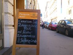 """Unsere """"Genusstafel"""" :) Chalkboard Quotes, Art Quotes, Cordial"""