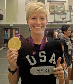 Megan Rapinoe :))))))))))) She's so cute ;)