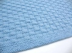 Knit Baby Blanket Blue Hand Knitted by SticksNStonesGifts on Etsy, $70.00