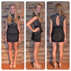 Peplum dress!