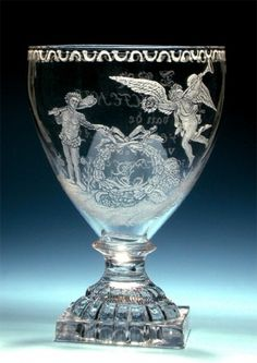 Glas ter gelegenheid van de 58e verjaardag van Christina Gesina van Hoorn - A.Hoevenaar Fecit 1796 Crystal Glassware, Antique Glassware, Crystal Vase, Glass Engraving, Hand Engraving, Glass Vessel, Glass Art, Gentleman Decor, Cloche Decor