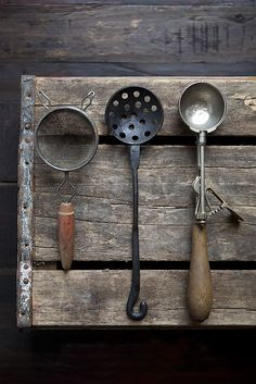 Boost your photo styling with vintage props. Add texture and visual interest to your styling efforts with old-fashioned tools and articles.