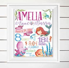 Excited to share the latest addition to my #etsy shop: Printable Birth Stats Wall Art Little Mermaid Ocean Life Gold Baby Girl Nursery Decor Newborn Gifts Personalized Digital etsy.me/2IE4Zkn #art #printmaking #birthannouncement #nurserygifts #nurserydecor #nurseryprint #girlsdecor #girlsnurseryart #nurserywallart