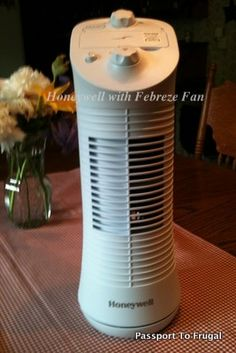Question! Who would like to win a Honeywell Mini Tower Fan with Febreze exactly like the one I received for my review? exp 6/28/13. #Honeywell #Fan #Febreze #Giveaway #Sweepstakes