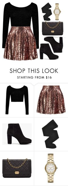 """Sequins"" by vany-alvarado ❤ liked on Polyvore featuring Boohoo, Madewell, Gerbe, Chanel and Marc Jacobs"